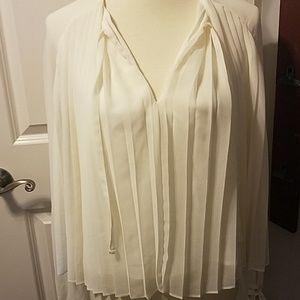 Rebecca Minkoff Small Pleated Dress Shirt